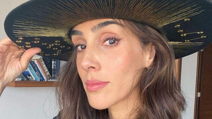 Sandra Echeverría, actriz de Televisa, presume su vientre plano con espectacular bañador