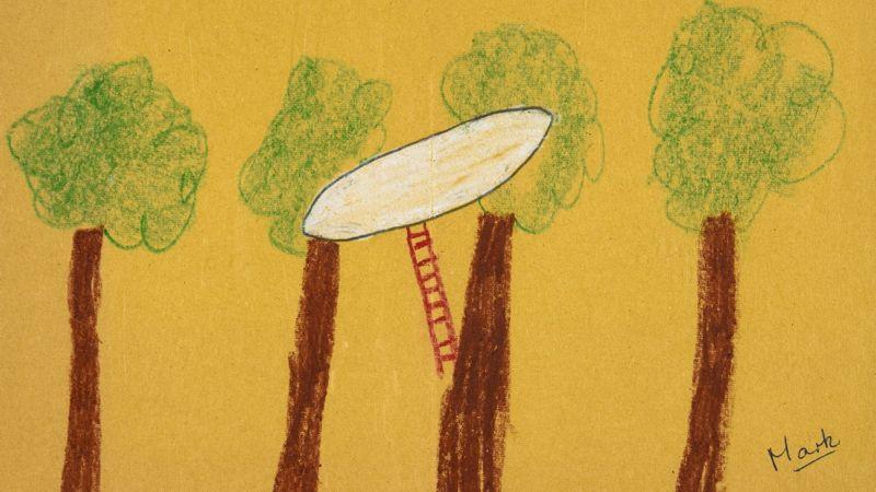 Revelan perturbador dibujo hecho por niños en 1977 sobre un avistamiento OVNI