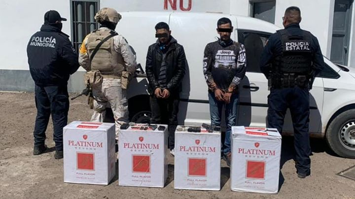 Caen dos supuestos sicarios a las afueras de Ciudad Obregón; llevaban dos pistolas y droga