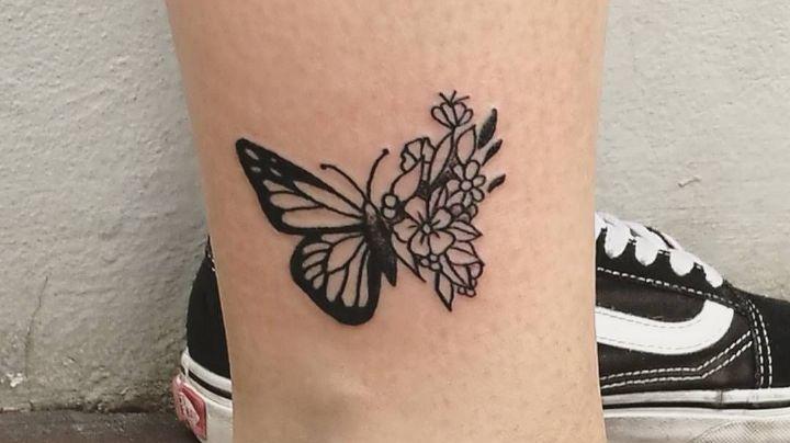 Lleva a la primavera en tu piel con estos hermosos tatuajes para mujer de flores y mariposas