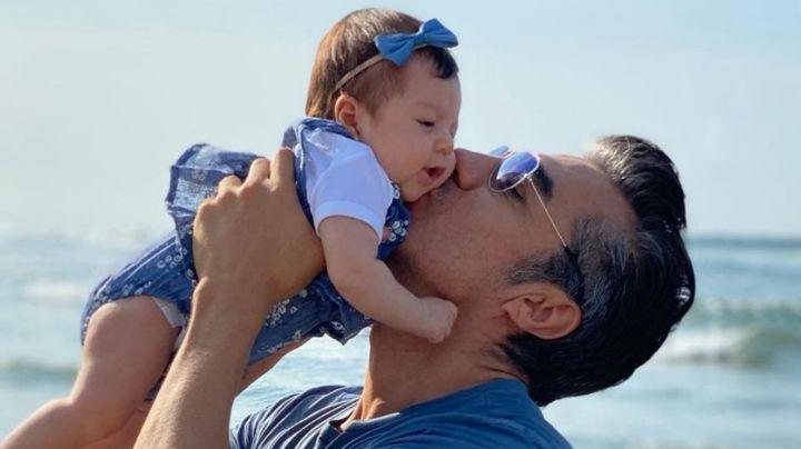 ¡Papá orgulloso! Adrián Uribe presume en Instagram lo enorme que está su bebé de 4 meses