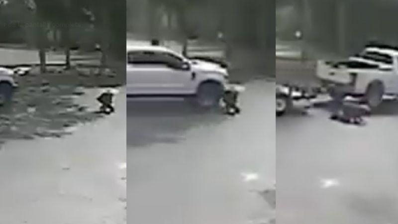 FUERTE VIDEO: Policía de Florida busca al conductor que atropelló a una mujer en un estacionamiento