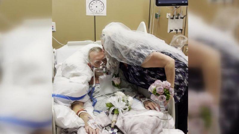 Última voluntad: Paciente con Covid-19 se casa con el amor de su vida antes de morir