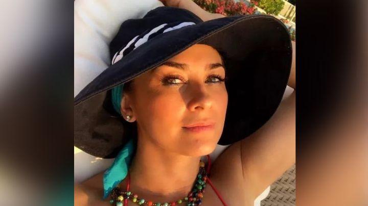 Aracely Arámbula modela radiante vestido rojo desde Telemundo y deja en shock a Instagram