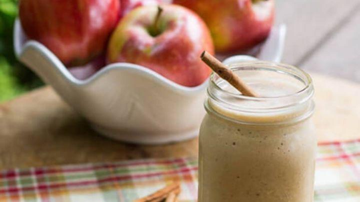 Olvídate del intenso calor de la próxima primavera con un rico frappé de manzana