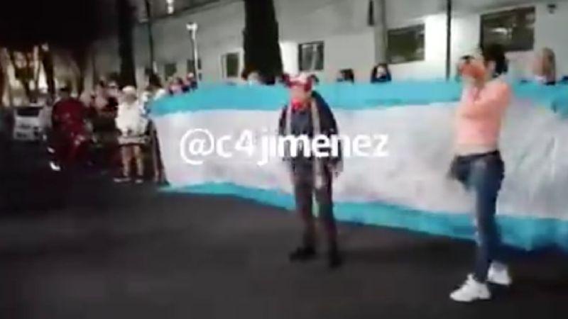 Familiares y amigos se manifiestan por la detención de la líder de comerciantes del Centro Histórico