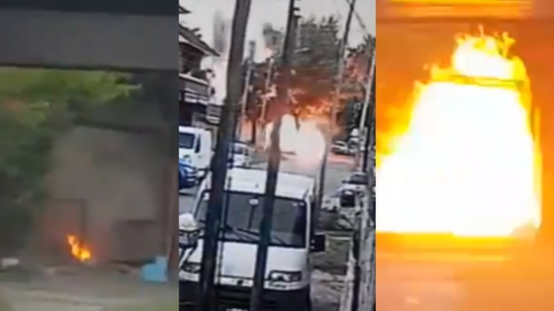 VIDEO: Pelea entre vecinos por unos árboles termina en homicidio y una casa en llamas