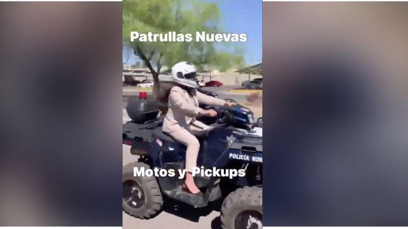 """VIDEO: """"Es un Power Rangers"""": Alcaldesa de Hermosillo causa sensación en redes por subirse a cuatrimoto"""