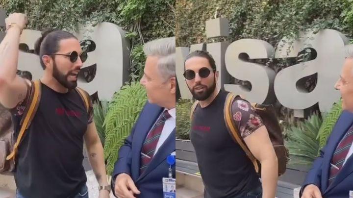 """""""Tu chin... mad..."""": Poncho de Nigris arremete contra actor de Televisa en los pasillos"""