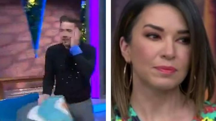 """VIDEO: Laura G se cachetea a conductor de 'Venga la Alegría' y la destrozan por """"ofrecida"""""""