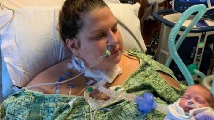 Mujer embarazada cae en coma por Covid-19 y cuando despertó su bebé tenía casi un mes