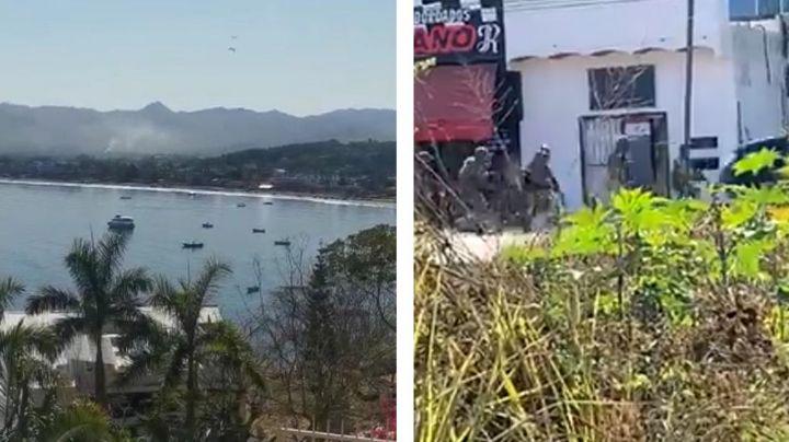 Pánico en Guayabitos: En VIDEOS, así fue el enfrentamiento entre civiles armados y Guardia Nacional