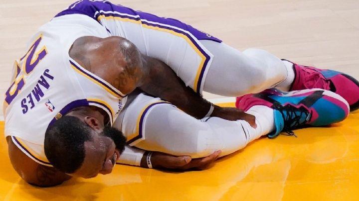 ¡Alarma en Los Ángeles! LeBron James sale lesionado del juego de Lakers ante Hawks