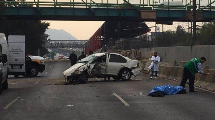 ¡Impacto fatal! Muere una persona en CDMX luego de fuerte accidente vial; registran tráfico intenso