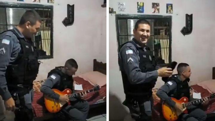 Para celebrar captura de traficante, policías cantan con el delincuente covers de Iron Maidenn