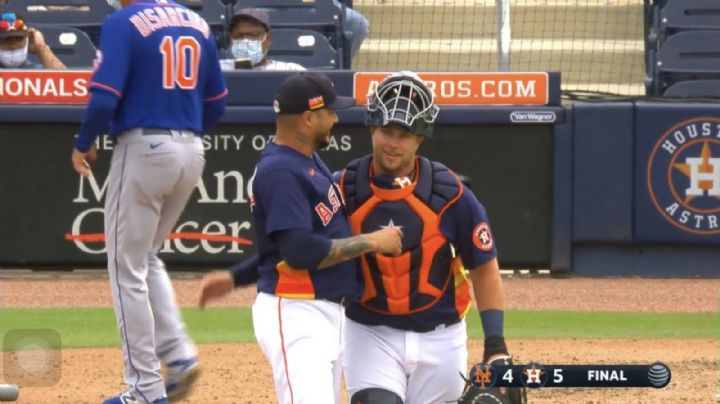 Héctor Velázquez logra su primer rescate en pretemporada con los Astros de Houston