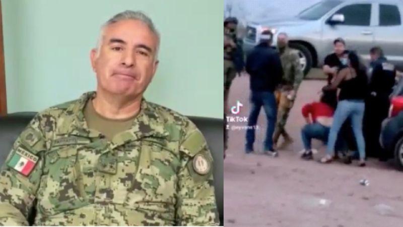 """VIDEO: """"Sí le quité el celular"""": Director de Seguridad en Cajeme admite agresión a mujer"""