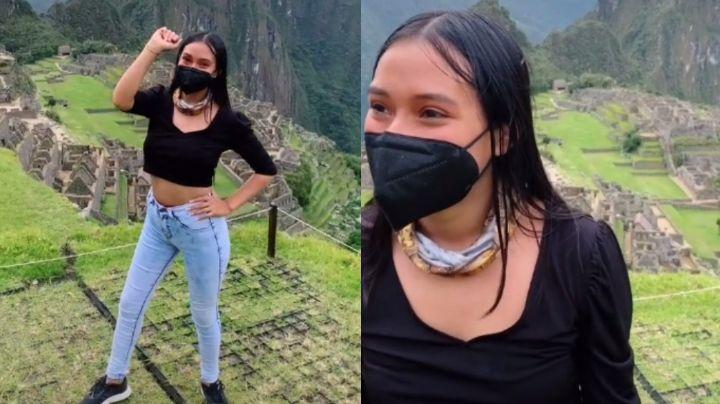 VIDEO: ¡Se queda sin ritmo! Joven deja de bailar en Machu Picchu tras recibir regaño