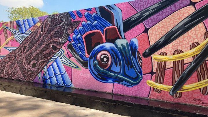FOTOS: El artista cajemense, Luis Hinojosa, pintará murales en el centro de Ciudad Obregón