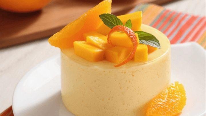 Lleva a tu paladar el sabor más fresco de la primavera con un rico mousse de naranja