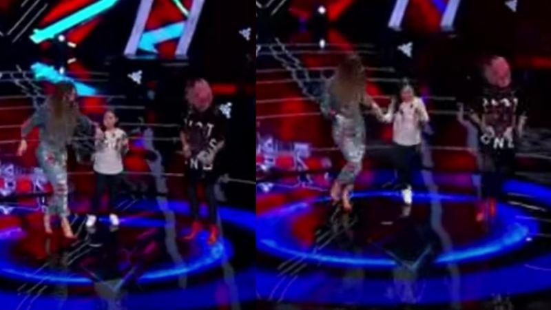 Al ritmo del 'Sapito', Belinda sorprende a TV Azteca al bailar el tema en 'La Voz Kids'