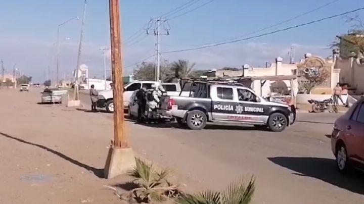 En operativo recuperan un auto robado con lujo de violencia en Empalme