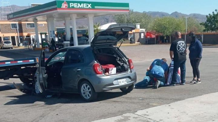 Fuerte 'encontronazo' en carretera Guaymas-Hermosillo deja como saldo a una mujer lesionada