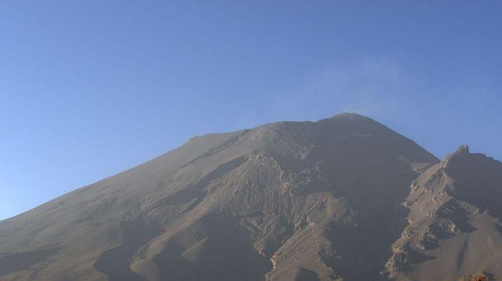 Popocatépetl intensifica actividad; aumenta a 27 exhalaciones y suma 96 minutos de tremor