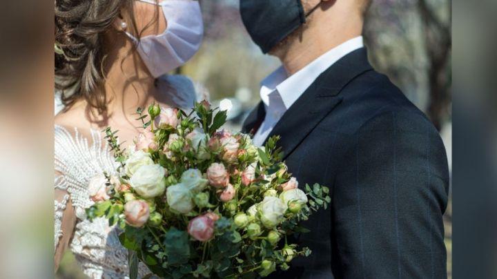 El amor todo lo puede: Esta pareja se conoce en tiempos de Covid-19 y logra casarse