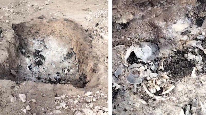 VIDEO: Descubren restos humanos calcinados y enterrados a las afueras de Hermosillo