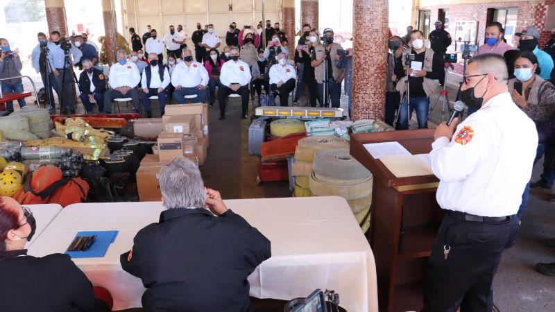 ¡Buenas noticias! Bomberos de Cajeme reciben apoyo de sus colegas de Arizona