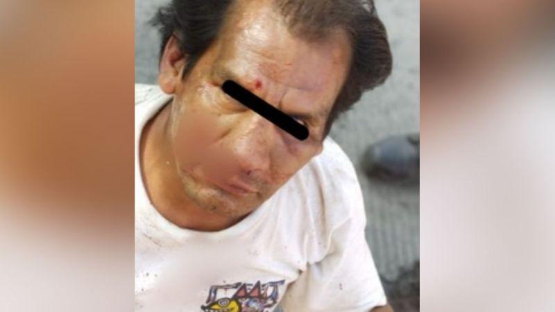 Puebla: Vecinos propinan brutal golpiza a Germaín; lo acusan de acosar a niñas