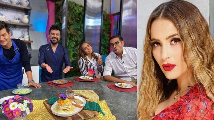 """""""Sentí una mano"""": Cynthia Rodríguez confiesa en vivo en 'VLA' que integrante de TV Azteca la tocó"""