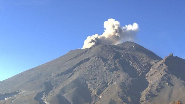 Popocatépetl mantiene actividad volcánica 'estable' y acumula 23 exhalaciones este martes
