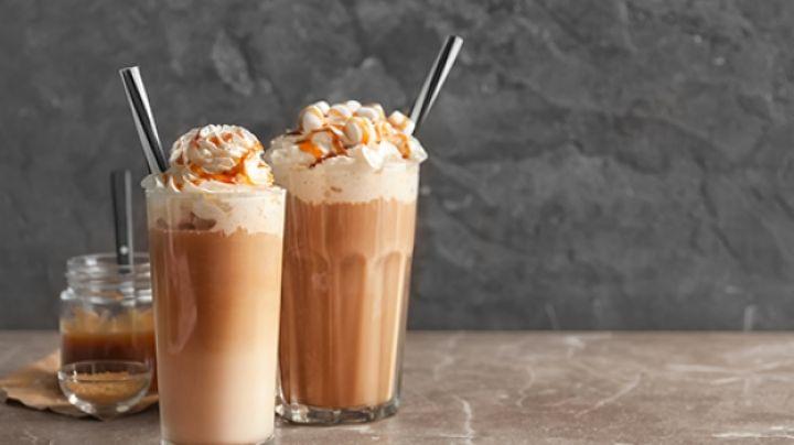 Deshazte del calor de la primavera con una dulce y refrescante malteada de caramelo
