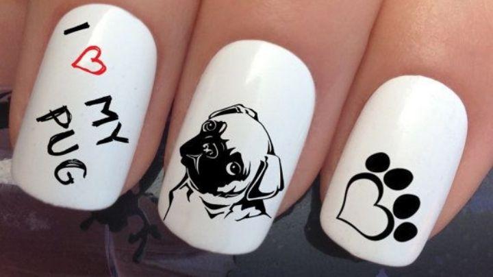 ¿Eres amante de los pugs? Llévalos en las puntas de tus dedos con estos diseños de uñas