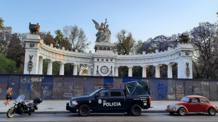 Protegen varios monumentos de la CDMX por el 8 de marzo, Día Internacional de la Mujer