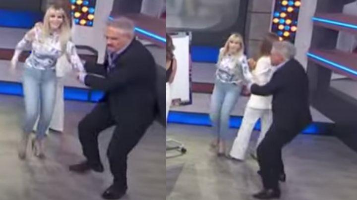 A empujones y jalones, conductor de 'Hoy' estalla contra Shanik Berman y la corre de Televisa