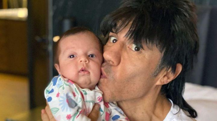 ¡El mejor papá de Televisa! Adrián Uribe presume a su bebé de 4 meses en Instagram
