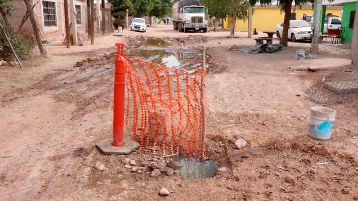 Cajeme: Vecinos de la Robles del Castillo piden soluciones, denuncian alcantarilla abierta y drenaje colapsado