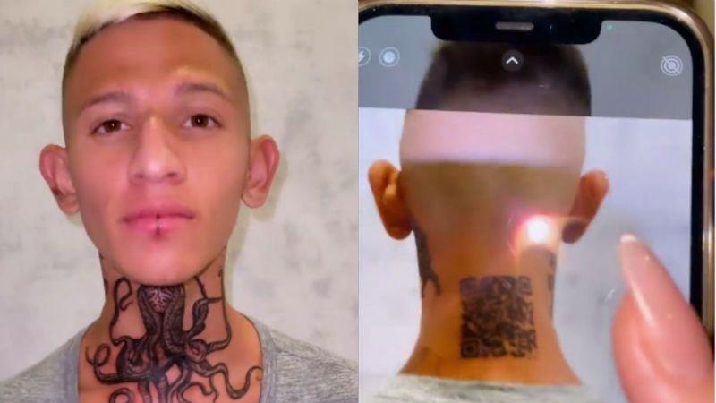 """""""Me salió 'fake'"""": Influencer se tatúa QR en la nuca para dirigir a su Instagram y no funcionó"""