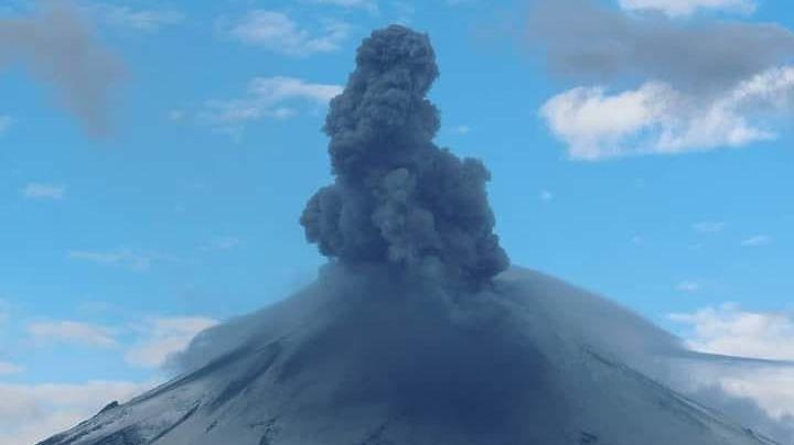 Popocatépetl cada vez más enojado; acumula 133 exhalaciones en las últimas 24 horas