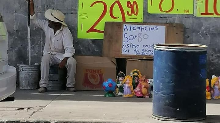 Tras crisis por Covid-19, comerciantes de Guaymas realizan trueque por comida