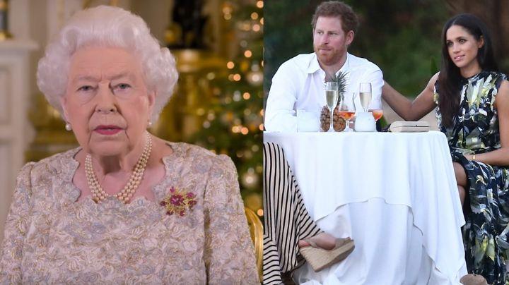 Reina Isabel II lanzaría duro mensaje hacia Meghan Markle y el Príncipe Harry