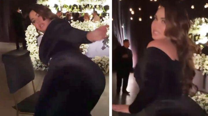 """VIDEO: Chiquis Rivera hace """"vulgar"""" baile en medio de boda y le llueven las críticas"""
