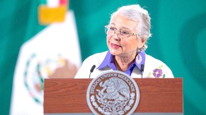 Sánchez Cordero reconoce la labor de las mujeres que se manifiestan en las calles este 8M