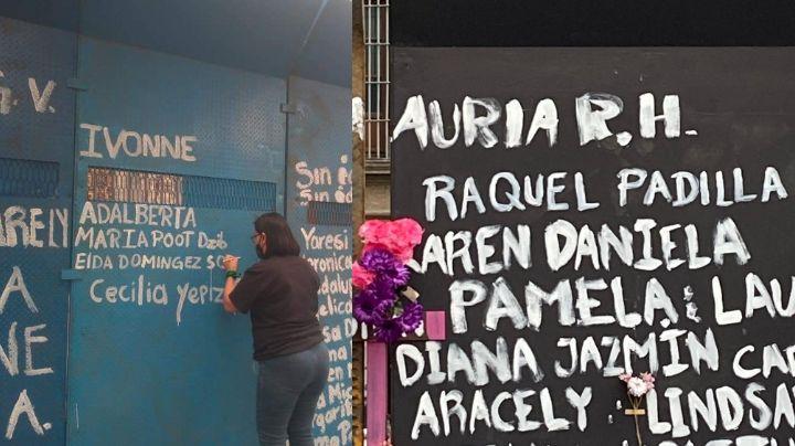 """""""Las recordamos siempre"""": Las sonorenses Raquel y Cecilia tienen su nombre en memorial frente a Palacio Nacional"""