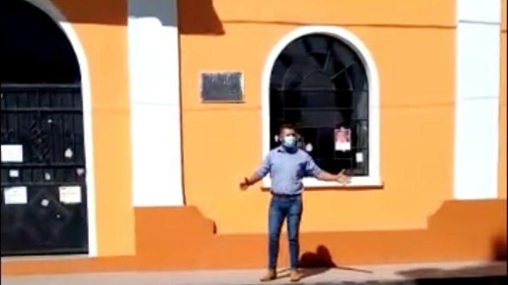 Hombre agrede y amenaza a un grupo de feministas que se manifestaban en Hidalgo por el 8 de marzo