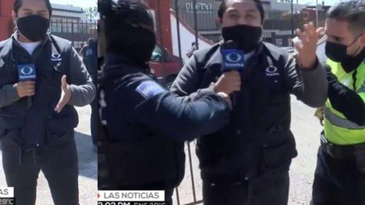 Reportero de Televisa es arrestado: Le niegan la entrada a la jornada de vacunación anticovid