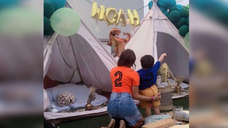 """""""Ya ni el papá"""": Internautas reaccionan a la fiesta de cumpleaños del hijo de Linet Puente"""